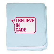 I Believe In Cade baby blanket