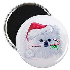 Trish's Pomeranian Christmas Magnet