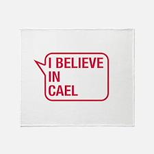 I Believe In Cael Throw Blanket
