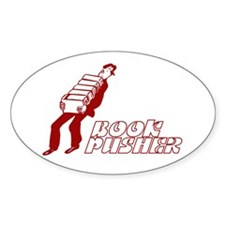 Book Pusher Oval Decal