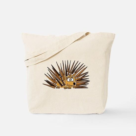 Funky Porcupine Art Tote Bag