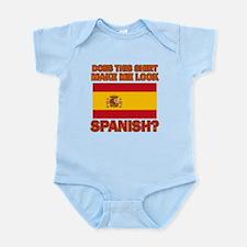 Spanish Flag Designs Infant Bodysuit