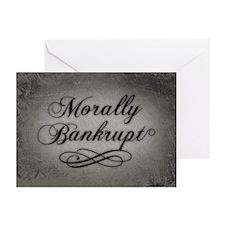 Morally Bankrupt Greeting Cards (Pk of 20)