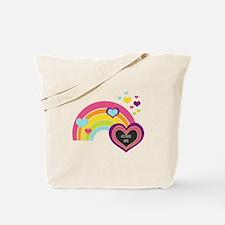 Girly Add Image Rainbow Tote Bag