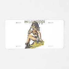 Vintage Mississippi Cowgirl Aluminum License Plate