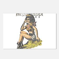Vintage Mississippi Cowgirl Postcards (Package of