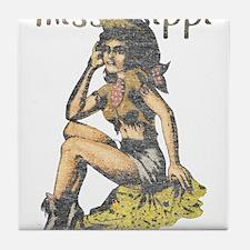 Vintage Mississippi Cowgirl Tile Coaster