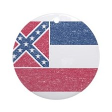 Vintage Mississippi State Flag Ornament (Round)