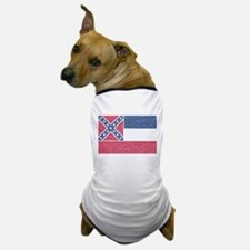 Vintage Mississippi State Flag Dog T-Shirt