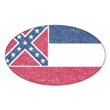 Vintage Mississippi State Flag Decal