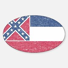 Vintage Mississippi State Flag Decal