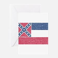 Vintage Mississippi State Flag Greeting Card