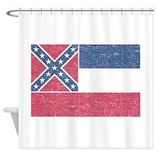 Vintage Mississippi State Flag Shower Curtain