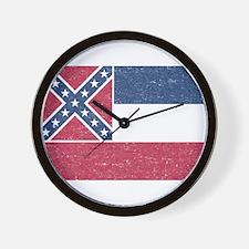 Vintage Mississippi State Flag Wall Clock