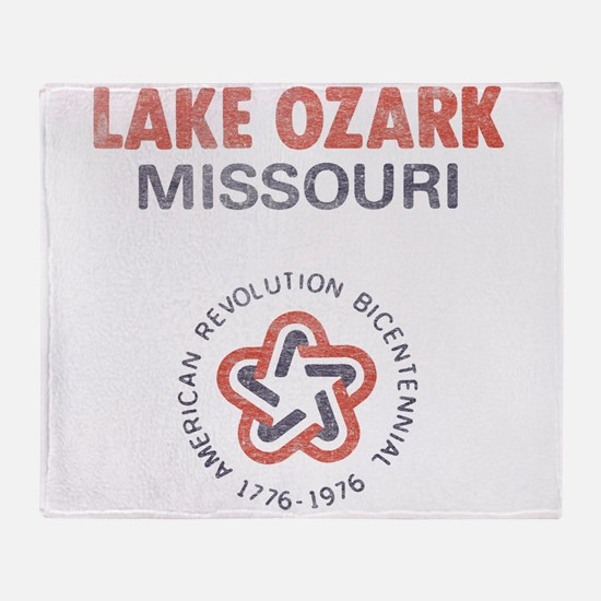 Vintage Lake Ozark Throw Blanket