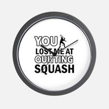 Squash gear and merchandise Wall Clock