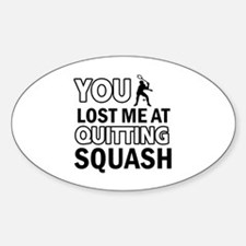 Squash gear and merchandise Decal