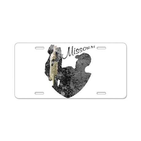 Missouri fishing aluminum license plate by nationalvintage for Mo fishing license