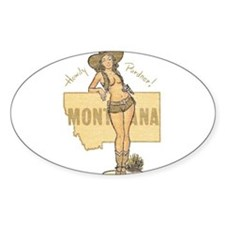Faded Montana Pinup Decal
