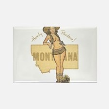 Faded Montana Pinup Rectangle Magnet