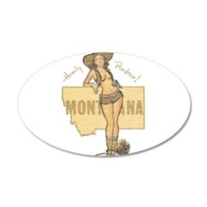 Faded Montana Pinup Wall Decal