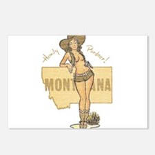 Faded Montana Pinup Postcards (Package of 8)