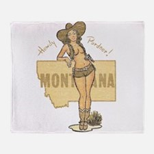 Faded Montana Pinup Throw Blanket