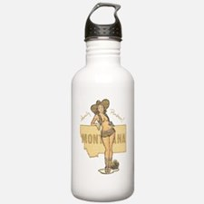 Faded Montana Pinup Water Bottle