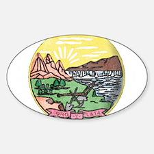 Montana Vintage State Flag Decal