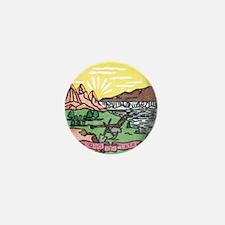 Montana Vintage State Flag Mini Button