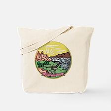 Montana Vintage State Flag Tote Bag