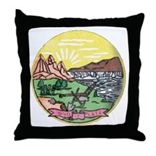 Montana Vintage State Flag Throw Pillow