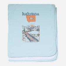 Dear Old Montana baby blanket