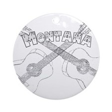 Montana Guitars Ornament (Round)