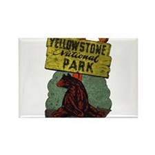 Vintage Yellowstone Rectangle Magnet (10 pack)