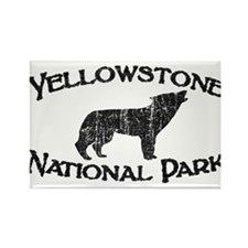 Yellowstone Wolf Rectangle Magnet (10 pack)