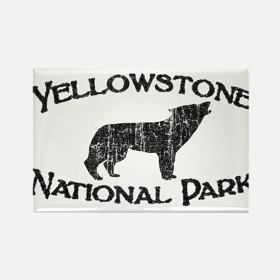 Yellowstone Wolf Rectangle Magnet