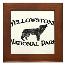 Yellowstone Wolf Framed Tile