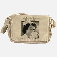 Hello Nursing School Messenger Bag