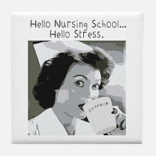 Hello Nursing School Tile Coaster