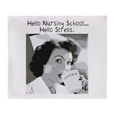 Hello Nursing School Throw Blanket