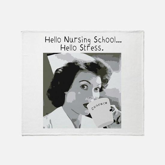 Hello Nursing School Throw Blanket
