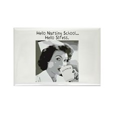 Hello Nursing School Rectangle Magnet