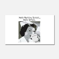 Hello Nursing School Car Magnet 20 x 12