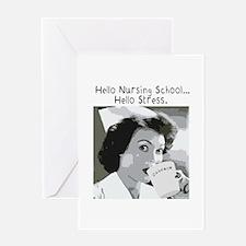 Hello Nursing School Greeting Card