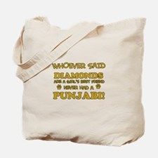 Punjabi Cat breed designs Tote Bag