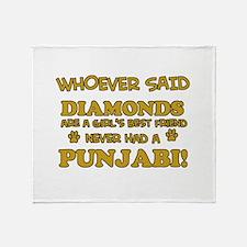 Punjabi Cat breed designs Throw Blanket