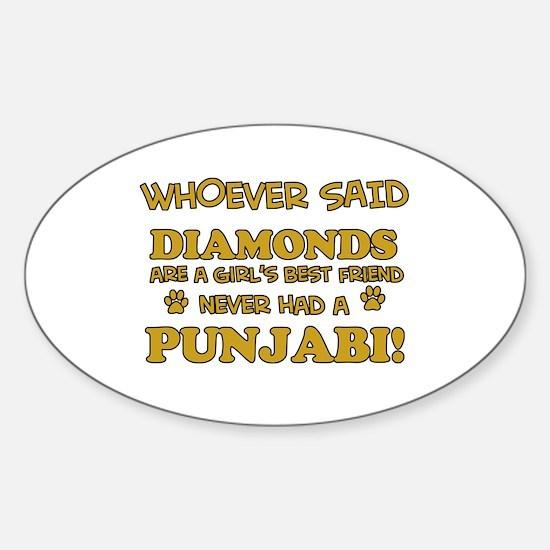 Punjabi Cat breed designs Sticker (Oval)