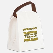 Punjabi Cat breed designs Canvas Lunch Bag