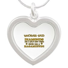 Ragamuffin Cat breed designs Silver Heart Necklace